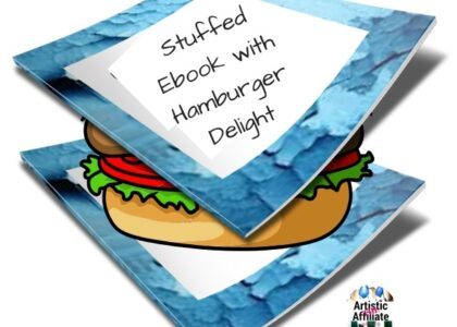 Stuffed Ebook with Hamburger Delight